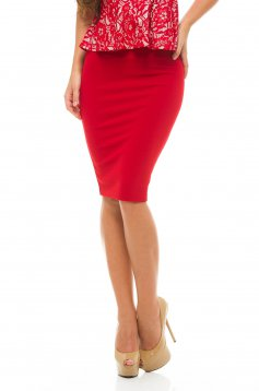 Fofy Simple Chapter Red Skirt