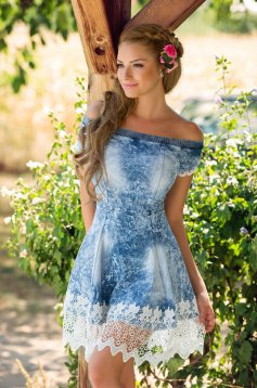 Mexton Deep Mistery Blue Dress