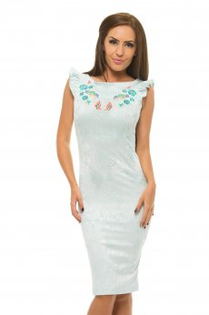 StarShinerS Embroidered Thassos Mint Dress