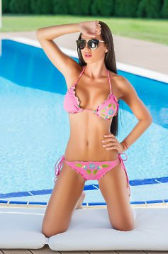 StarShinerS Brodat Miami Pink Swimsuit