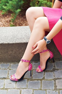 Mineli Boutique Magnific Pink Leather Sandals