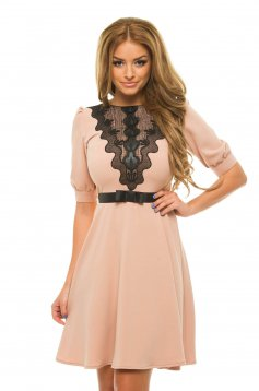 LaDonna Mistery Touch Cream Dress