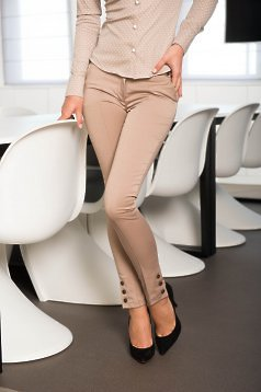 Fofy Delicate Match Cream Trousers