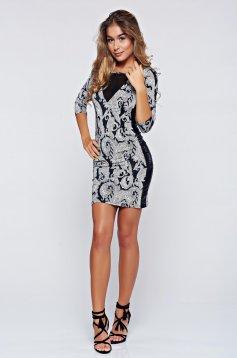 MissQ black casual cut back dress