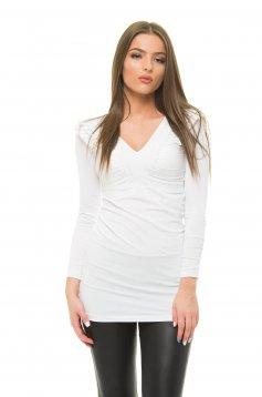 MissQ Natural Shine White Blouse