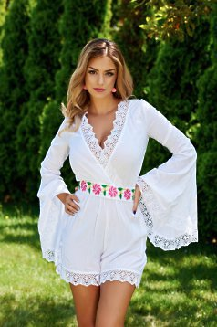 Mexton Elegant Wear White Jumpsuit