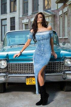 Mexton Confident Allure Blue Dress