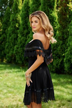 Mexton Girlish Attitude Black Dress