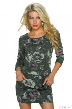 Rochie Nocturnal Crush DarkGreen