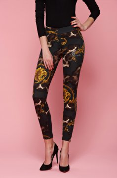 MissQ Explosive Planet Gold Tights