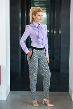 LaDonna Office Diamonds Black Trousers