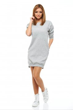 Top Secret Written Allure Grey Dress