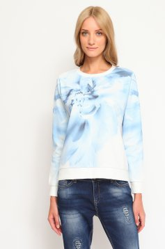 Top Secret Windy Flower Blue Blouse