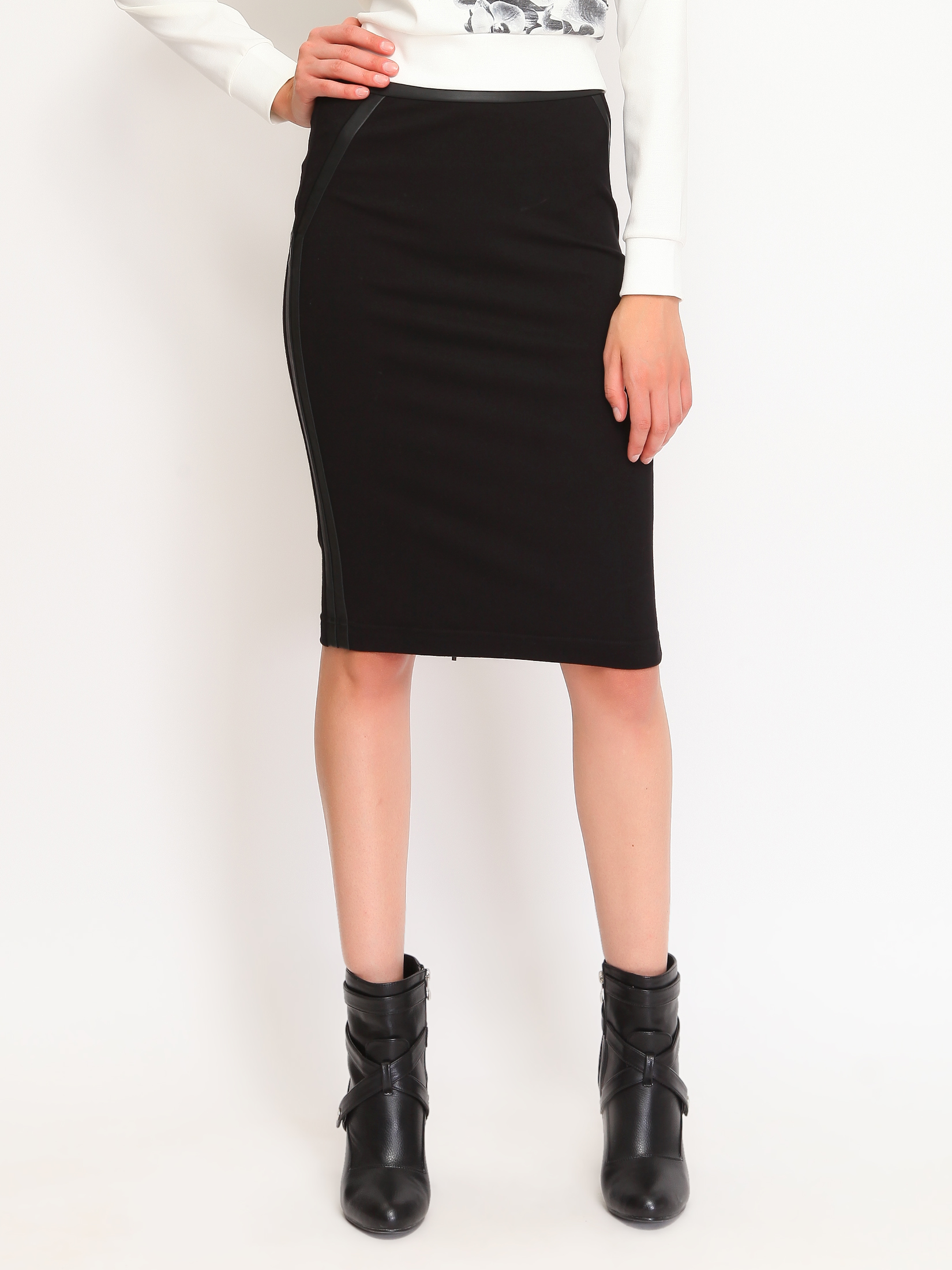 Fusta Top Secret Office Fashion Black