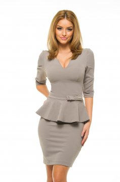 PrettyGirl Influential Grey Dress