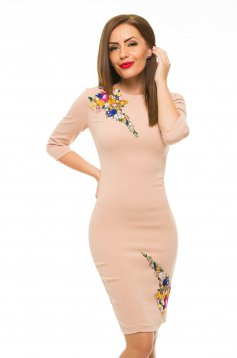 LaDonna Flower Storm Cream Dress