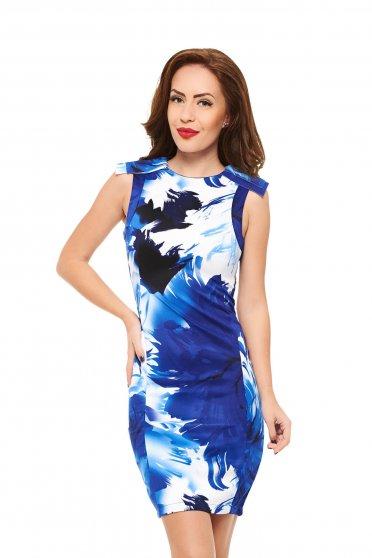 Painted Print Blue Dress
