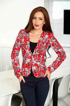 Fofy Thrilled Print Red Jacket