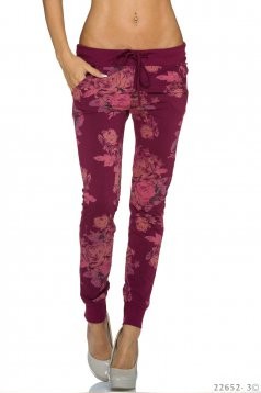 Individual Type Burgundy Trousers