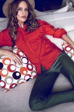 PrettyGirl Simple Green Trousers