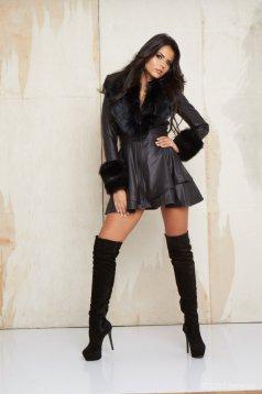 Mexton Nice Lady Black Trenchcoat