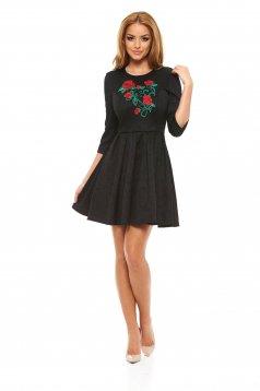 StarShinerS Brodata Rose Fantasy Black Dress
