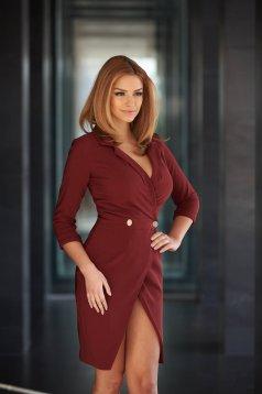 PrettyGirl Straight Burgundy Dress