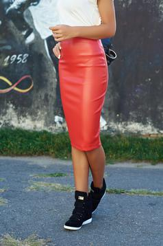 StarShinerS red pencil skirt ecological leather