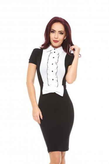 Artista Candy Bow Black Dress