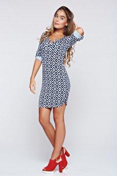 MissQ white elastic fabric casual dress