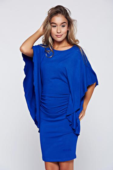 MissQ blue casual dress with butterfly sleeves