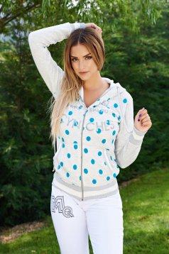 MissQ Sporty Dots Grey Jacket
