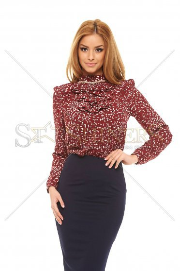 Fofy Frosty Look Burgundy Blouse