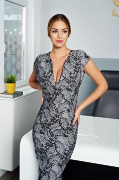 PrettyGirl Loveliness Grey Dress