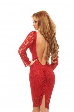 PrettyGirl Creative Red Dress
