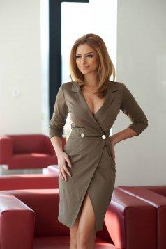 PrettyGirl Straight Brown Dress