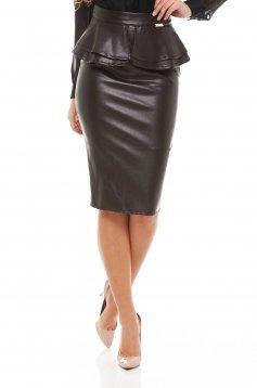 PrettyGirl Hamper Brown Skirt