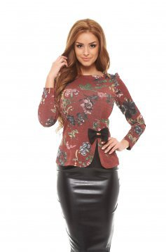 Bluza Fofy Glittery Flowers Brown