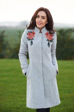 LaDonna Magic Blossom Grey Coat