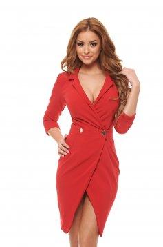 PrettyGirl Straight Red Dress
