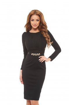 Fofy Innocent Style Black Dress