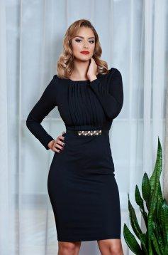 Fofy Innocent Style Black Dress