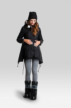 Modern Black Maternity Jacket