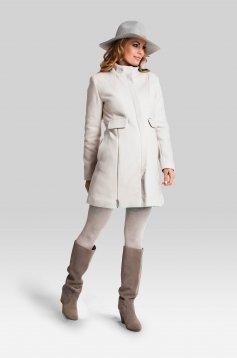 Classy Cream Maternity Coat
