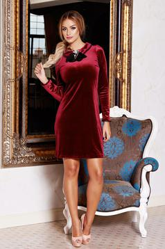 Fofy Tender Move Burgundy Dress