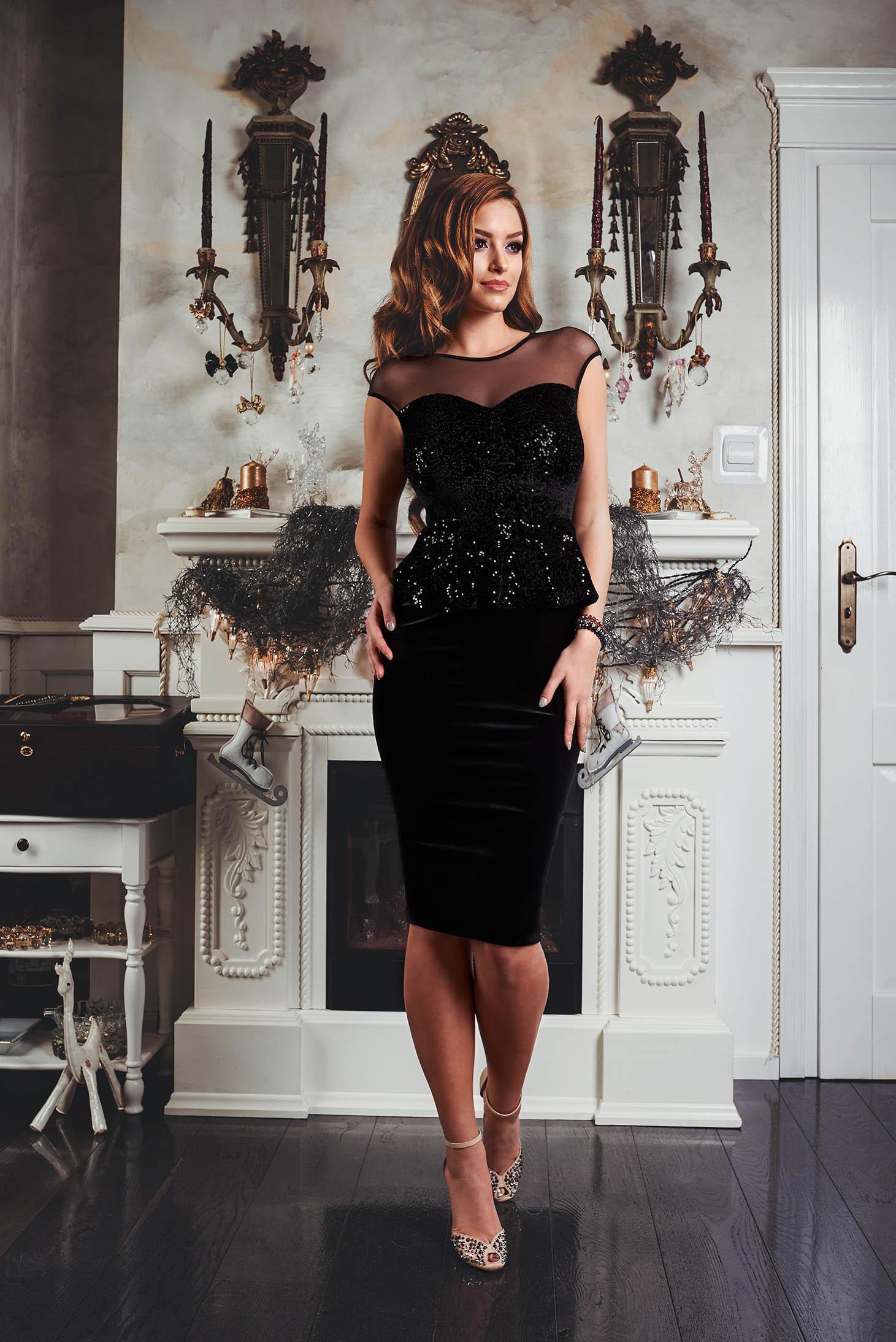 Rochie Fofy Glam Lady Black