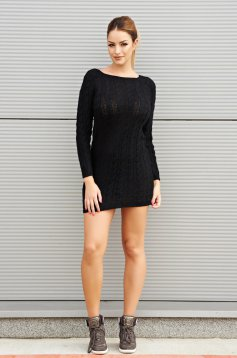 Lovely Attitude Black Dress