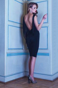 PrettyGirl Luxuriant Black Dress