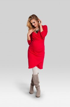 Celebrate Red Maternity Dress