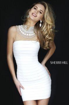 Sherri Hill 32283 White Dress
